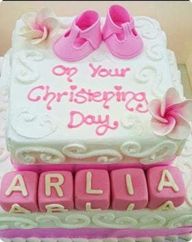 Christening & Baby shower cake