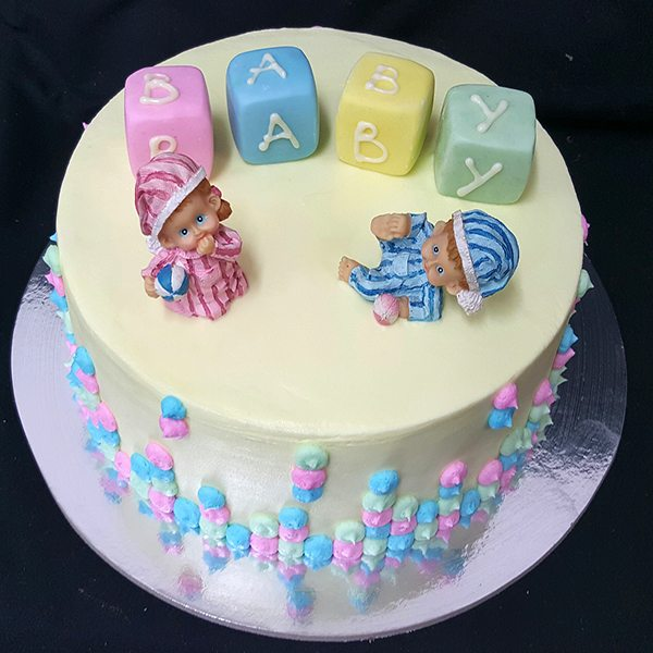 Baby Cake With Coloured Blocks