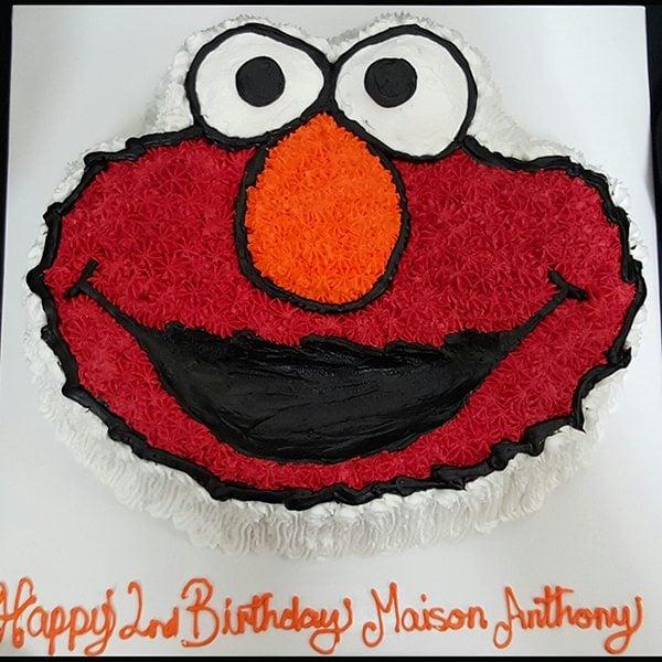 Elmo Cake Frozen 6th Birthday