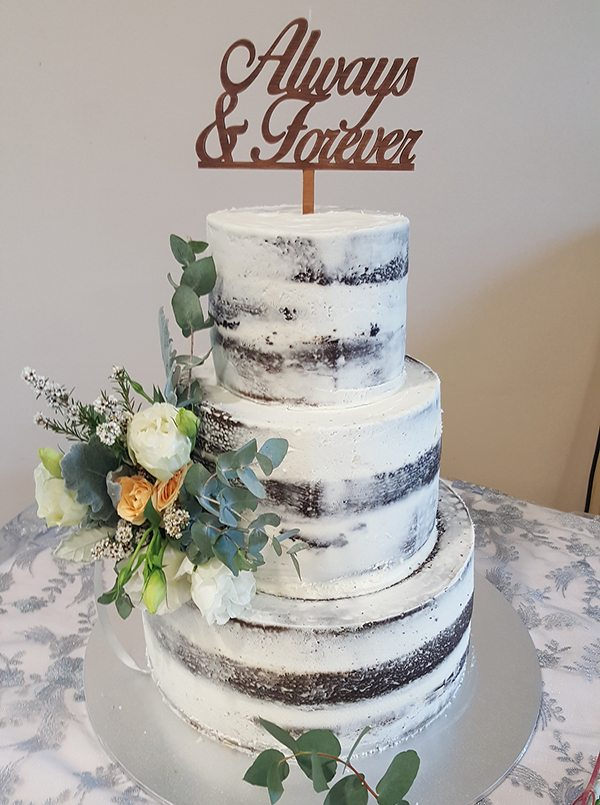 Wedding cakes designer delights naked icing 3 tier cake junglespirit Image collections
