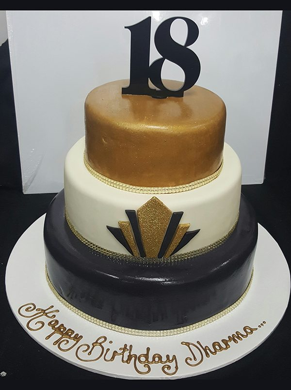 18th Cake 3 Tiers