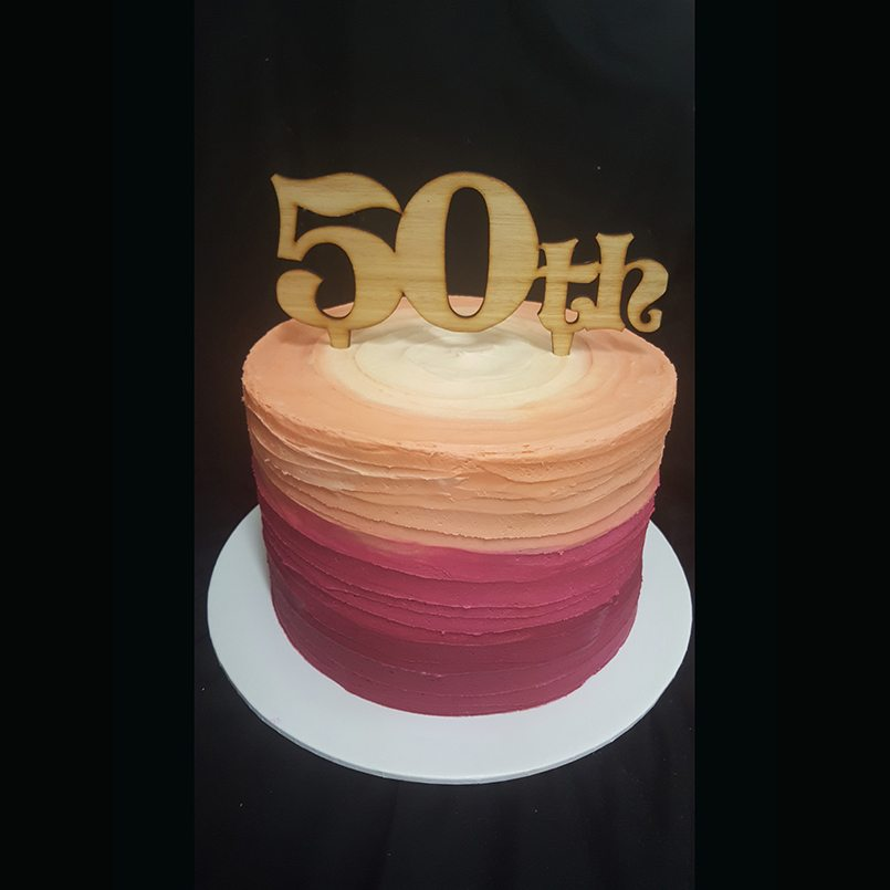 50th Warm Colour Tranisition Cake